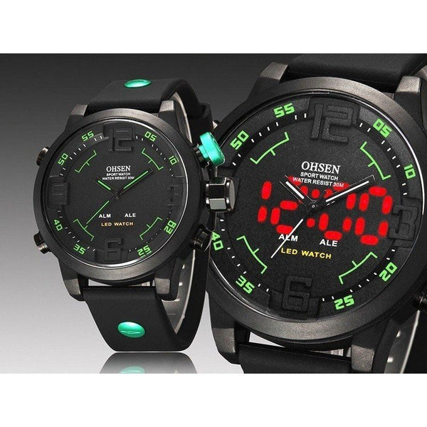 Sport Watch - OHSEN LED Digital And Analog Men's Sports Watch