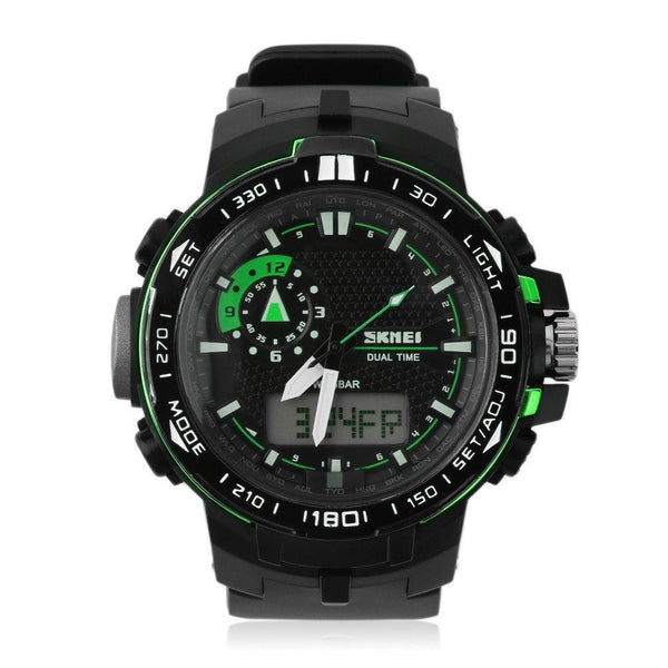 Sport Watch - SKMEI Dual Time Digital Display Rugged Sports Watch