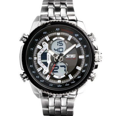 Sport Watch - SKMEI Luxury Chronoscope Multifunction Stainless Steel Watch