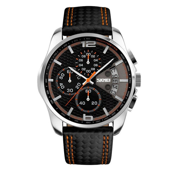 Sport Watch - SKMEI Men's Leather Band Sport Watch With Subdials