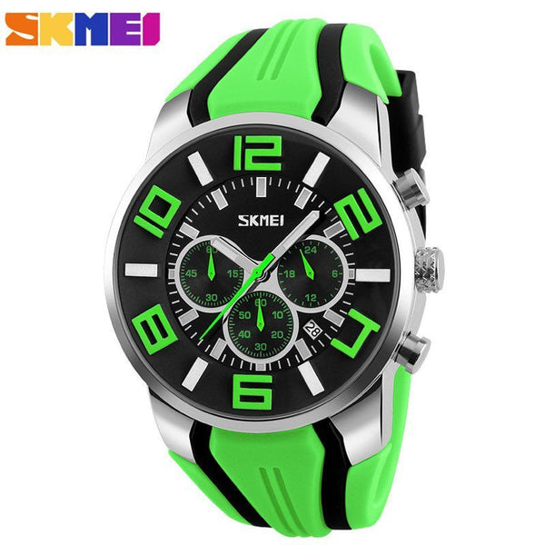 Sport Watch - SKMEI Silicone Band Chronograph Sports Watch With Subdials