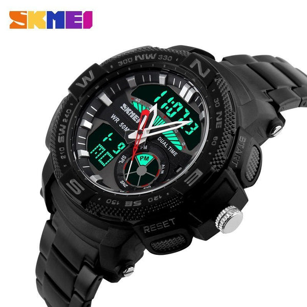Sport Watch - SKMEI Stainless Steel Analog And Digital Sports Watch