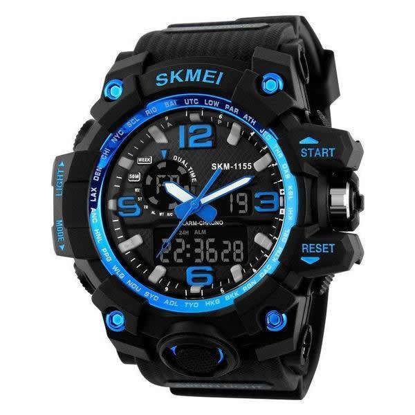Sport Watch - SKMEI Ultra Rugged Digital Analog Dual Display Military LED Sport Watch