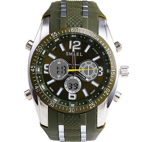 Sport Watch - Smael Military Style Dual Display Ultra Sports Watch