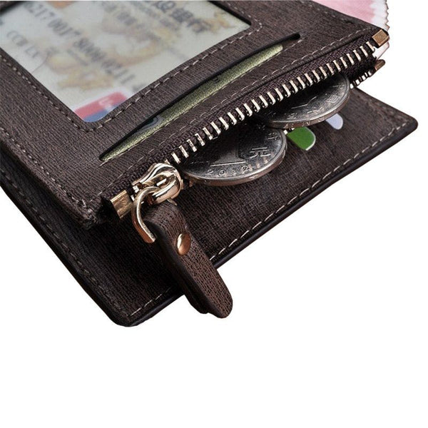 Wallet - Leather Wallet With Zippered Coin Pocket