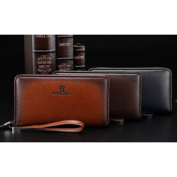 Wallet - Luxury Leather Multi-Compartment Handy Bag Clutch Wallet