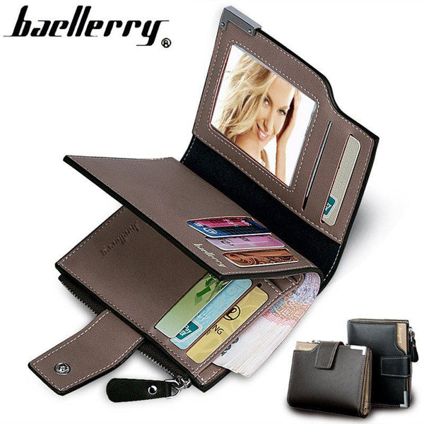 Wallet - Multifunction High Capacity Trifold Genuine Leather Wallet
