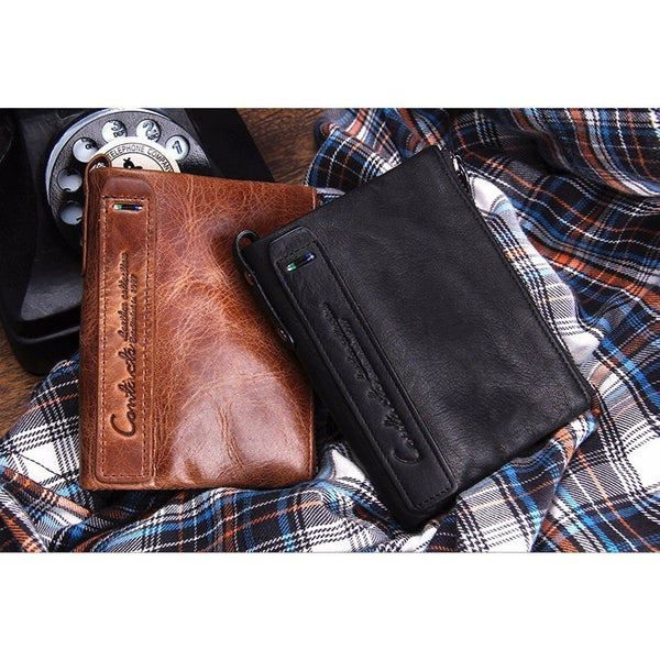 Wallet - Vintage Style Cowhide Leather Wallet
