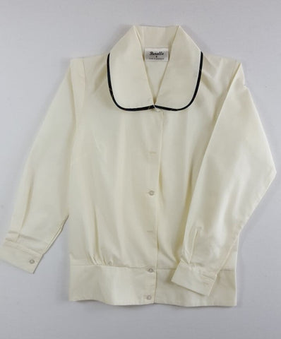 Long Sleeve Cream Blouse