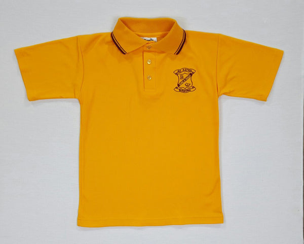 Short Sleeve Gold Sports Polo