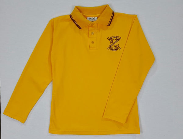 Long Sleeve Gold Sports Polo
