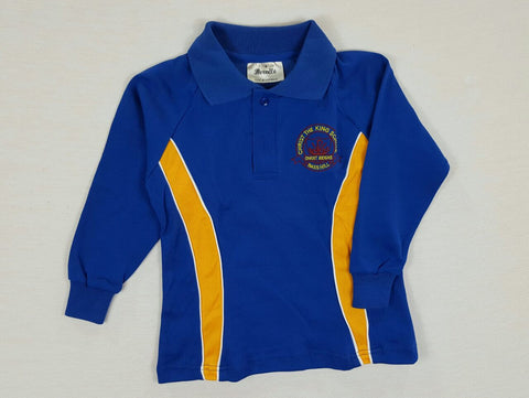 Long Sleeve Royal Blue Sports Polo