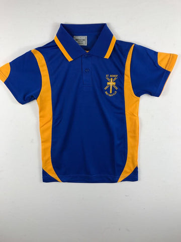 Short Sleeve Royal Blue Sports Polo