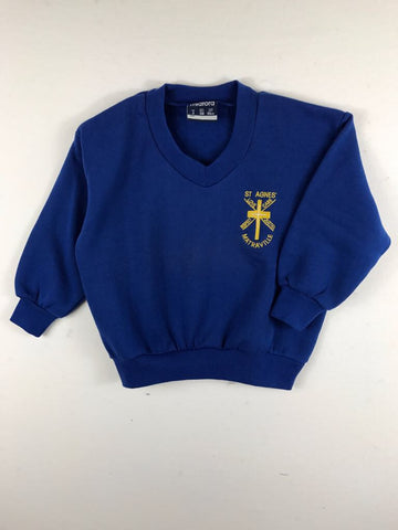 Fleecy Royal Blue Sports Jumper