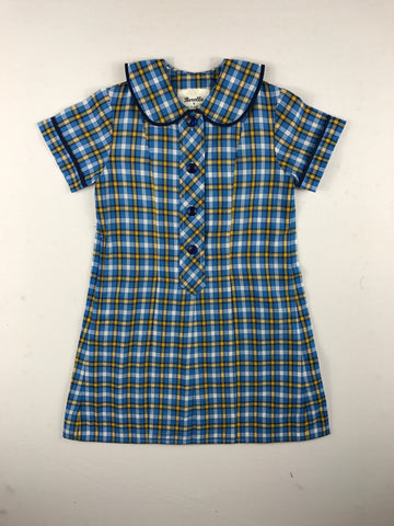 Summer Blue/Yellow Check Dress
