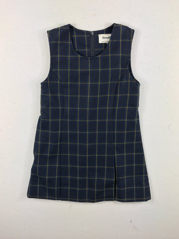 Winter Navy Check Dress