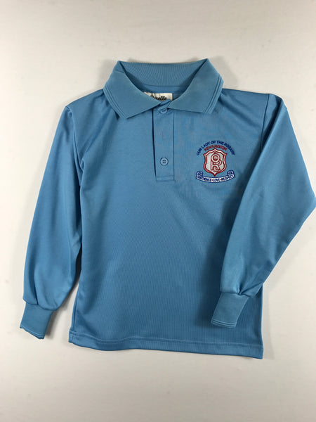 Long Sleeve Sky Blue Sports Polo (new emblem)