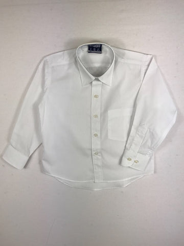 8a1e050915d7d1 Long Sleeve Boys White Shirt