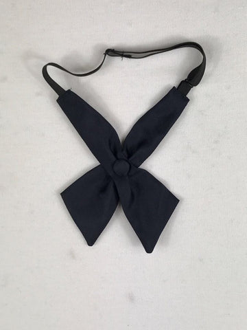 Girls Navy Bow