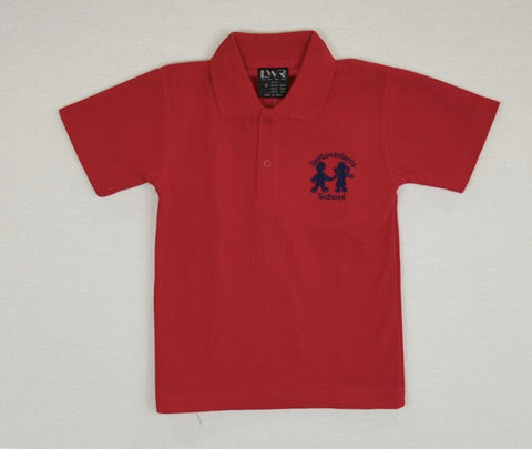 Short Sleeve Red Polo