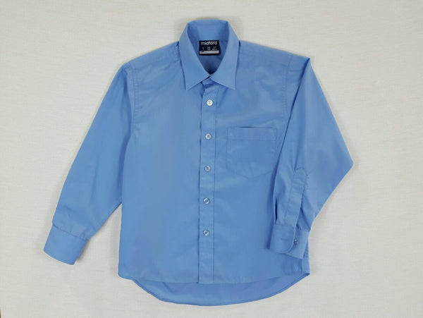 Long Sleeve Boys Blue Shirt
