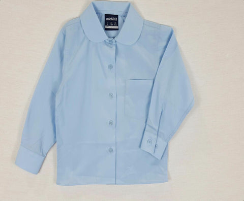 Long Sleeve Girls Sky Blue Blouse