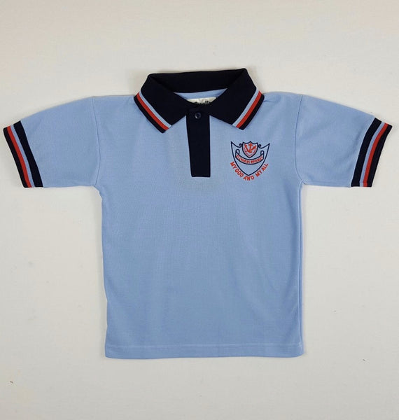 Short Sleeve Sky Blue Sports Polo