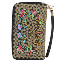 Embroidered Wristlet