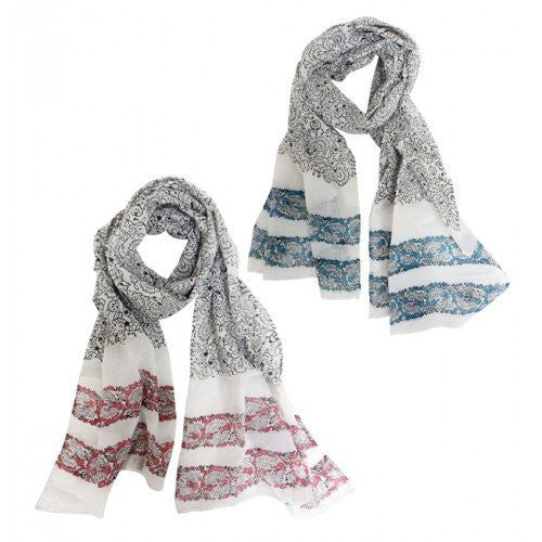 Global GF Freedom Fighters Block Print Scarf