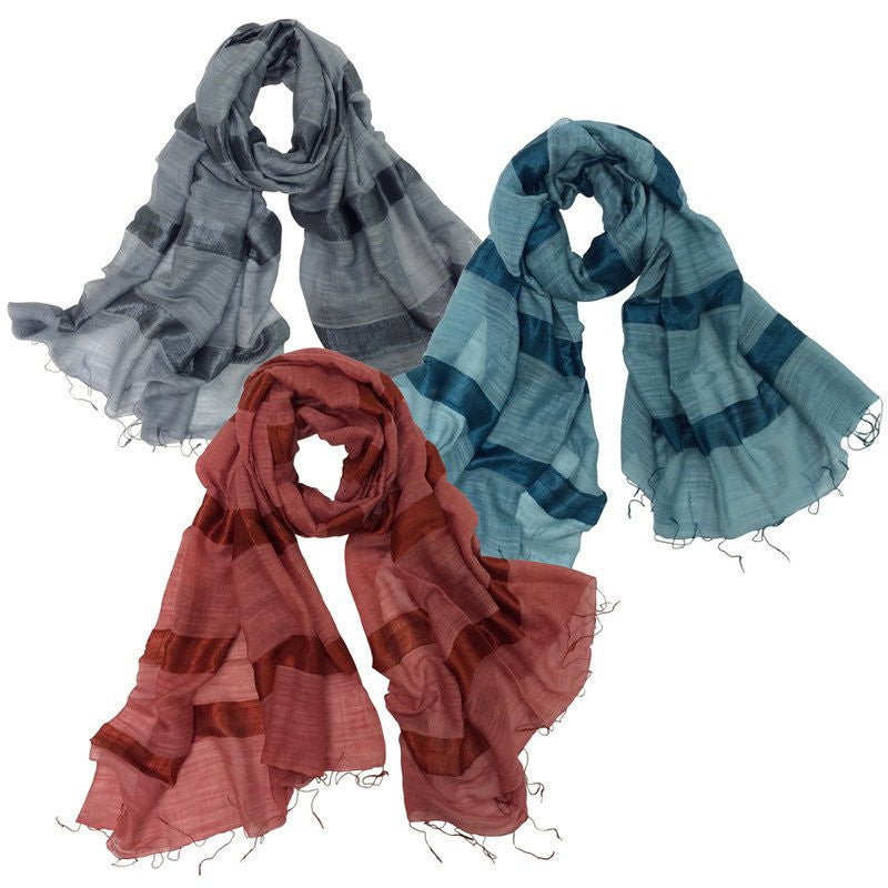 Global GF Silky Stripe Scarf