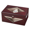 Image of Visol Hudson Red Antique Wood Stain Humidor - Holds 125 Cigars