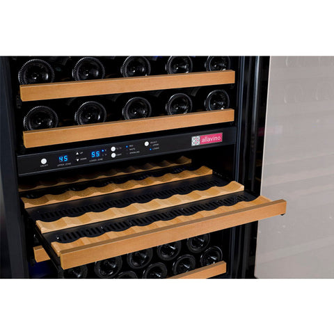 Allavino 112 Bottle Three Zone Black Side-by-Side Wine Refrigerator