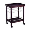 Image of Winsome Johnnie Bar Cart, Mirror Top, wine rack