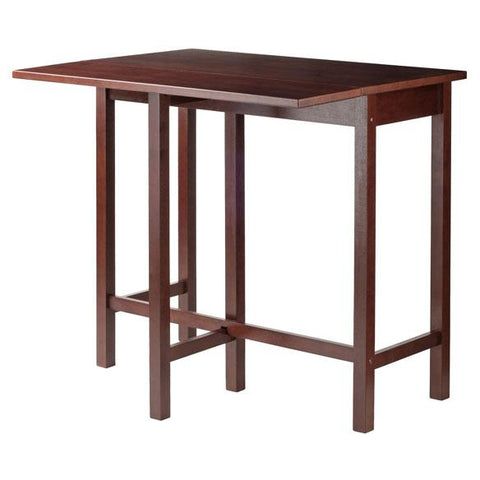 Winsome 3PC Drop Leaf High Table with 2 Counter Ladder Back Chair