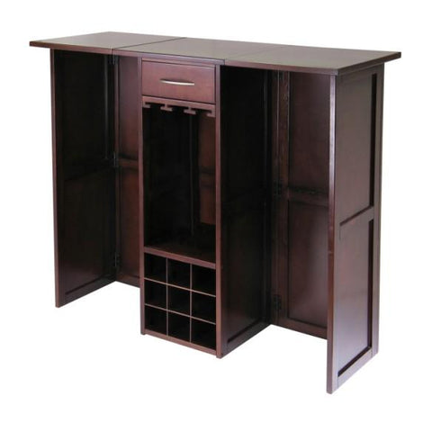 Winsome Newport Wine Bar Expandable Counter