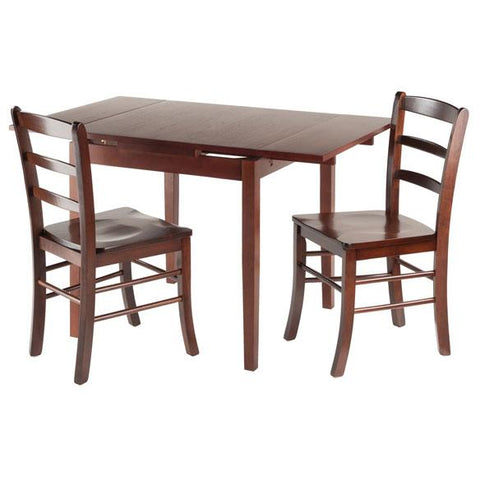 Winsome Pulman 3-Pc Set Extension Table with 2 Chairs