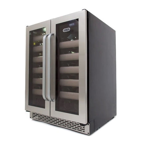 Whynter 401DS Whynter Elite 40 Bottle Seamless Stainless Steel Door Dual Zone Built-in Wine Refrigerator