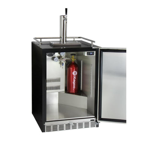 Kegco HK38BSU-1 Single Tap Undercounter Kegerator with X-CLUSIVE Premium Direct Draw Kit - Right Hinge