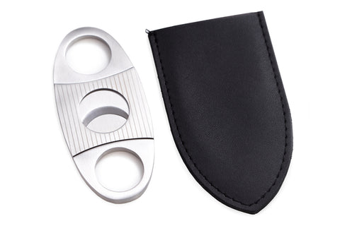 Photo of the Bey-Berk Guillotine Cigar Cutter with the black storage case