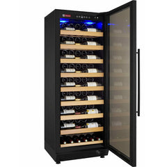 Allavino 99 Bottle Single Zone Black Right Hinge Wine Refrigerator