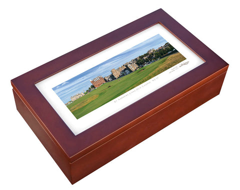 Stonehouse Humidor featuring famous golf courses around the world - Humidor Enthusiast