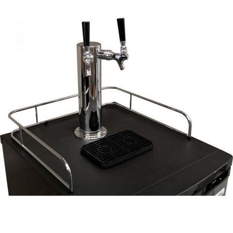 Kegco HBK199B-2 Home Brew Double-Faucet Kegerator with Black Cabinet and Door