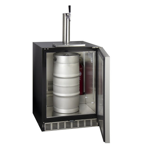 Kegco HK48BSA-1 Single Tap ADA Undercounter Kegerator with X-CLUSIVE Premium Direct Draw Kit - Right Hinge