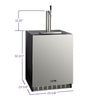 Image of Kegco HK48BSA-1 Single Tap ADA Undercounter Kegerator with X-CLUSIVE Premium Direct Draw Kit - Right Hinge