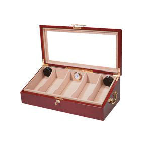 Quality Importers, Humidor HUM-DIS4 Counter Top Display Cherry, Humidor - Humidor Enthusiast