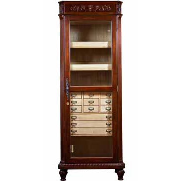 Cabinet Tower Cigar Humidor 'The Vanderbilt' - 3,500 Cigar Capacity