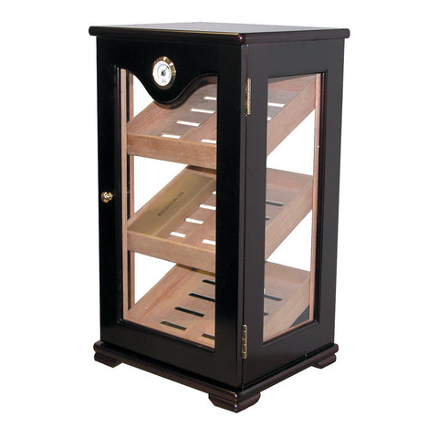 Quality Importers, Humidor HUM-DIS5 Counter Top Display Mahogany, Humidor - Humidor Enthusiast