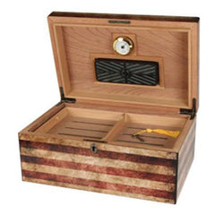 Humidor Supreme Old Glory USA Flag Printed Desktop Humidor