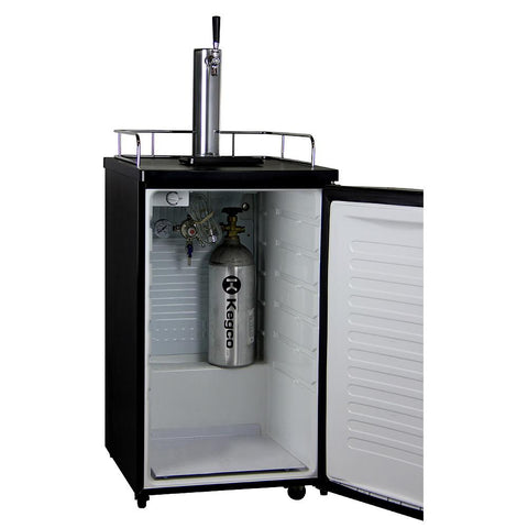 Kegco HBK199B-1 HomeBrew Kegerator with Black Cabinet and Black Door