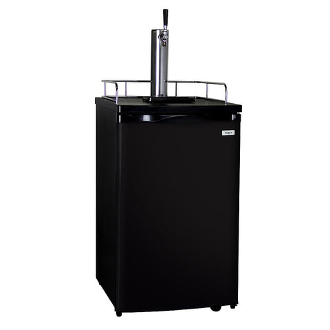 Kegco K199B-1NK Full-Size One Tap Faucet Keg Beer Kegerator with Black Cabinet and Black Door